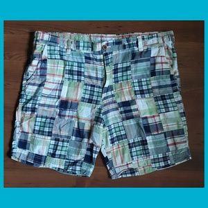 IZOD Saltwater Madras Plaid Shorts